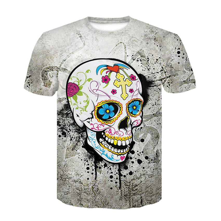 New Fashion Harajuku Women T-Shirt 3d Print The Skull