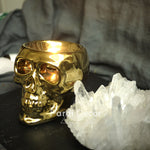 Holiday alternative golden skull candle holder silver/black holder/personality decoration craft 1pc/lot