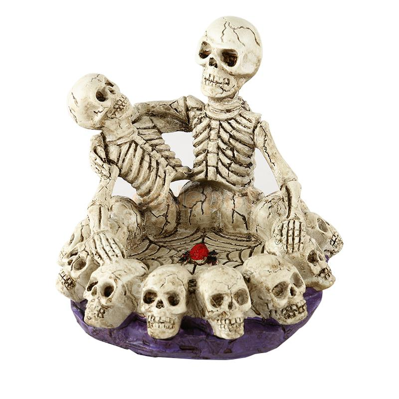 Human Skull Cigarette Smoking Ashtray Container Replica Creative Decor