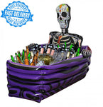 INFLATABLE SKELETON COFFIN DRINKS COOLER