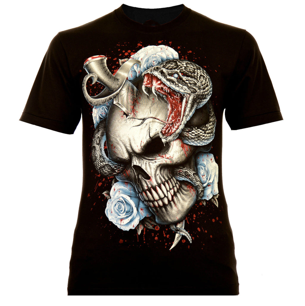 Rock Eagle T-Shirt Glow in the Dark Death Skull Snake Skull Retro top tee