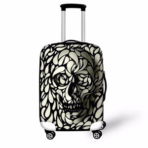 3D Punk Skull Head Printed Luggage Waterproof Covers for 18-30 Inch