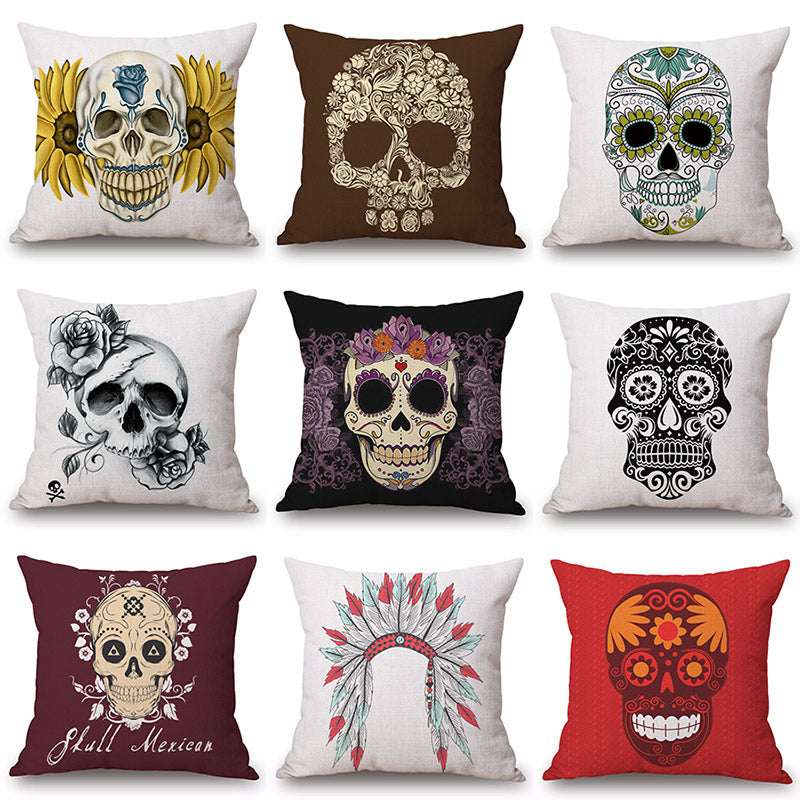 Printed Cotton Linen Pillowcase Decorative Cushion Pillows