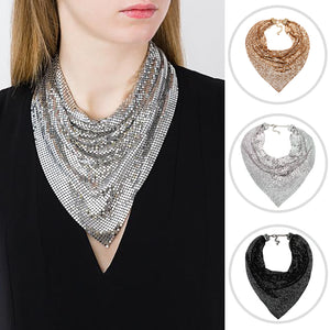 Matel Statement Jewelry Bib Collar Chokers Necklace For Women Trendy Punk Maxi Necklace Bohemian Necklace F1209