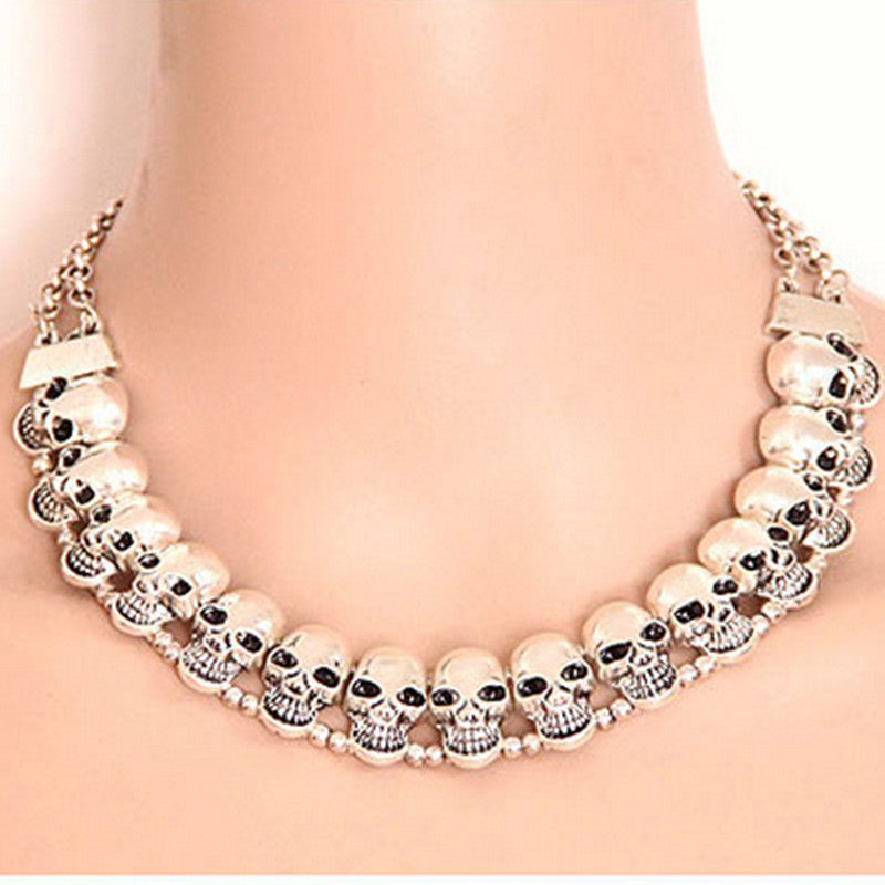 Necklace Women Skull Necklaces & Pendants Bijoux Choker Necklace Fashion Jewelry Statement Necklace For Women Collares