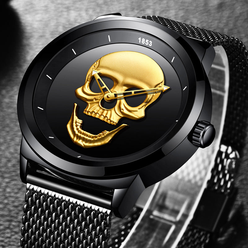 Men Watches New Creativity Fashion Top Luxury Brand Watch Men Skull Style Full Steel Quartz Watches Relogio Masculino