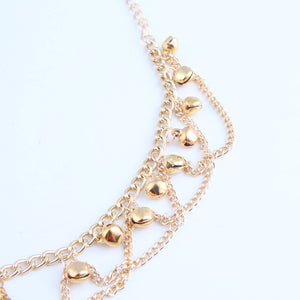 Anklets For Women Popular Golden Color Alloy Girls Bell Anklet Bead Chain Tassel Barefoot Sandal Beach Foot Jewelry