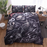 Warrior Skull Printed Duvet Cover Set 2/3pcs Single  Queen King Bedclothes Bed Linen Bedding Sets