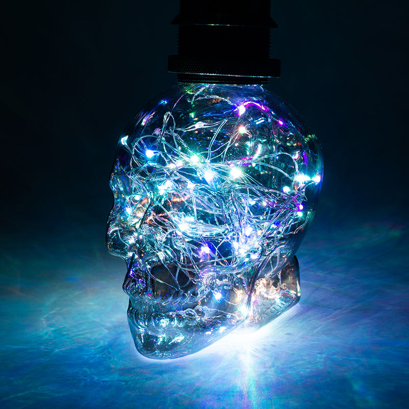 Led String Light RGB Copper Silk Lamp Skull Head Lamp