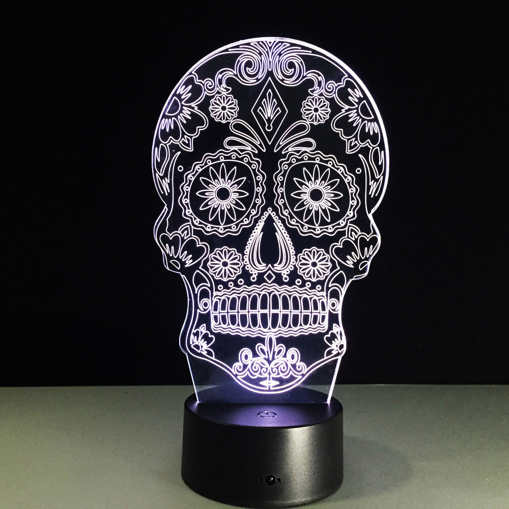 Night Light 3D LED Lamp Skull 3D Lights Children's nightlight Visual Led Night Light Illusion Mood Lamp 7 Colors Lamp