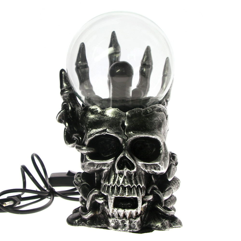 Magic Skull Head Plasma Ball Touch Sensitive