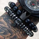 Set of 2 Skull bracelets for mens