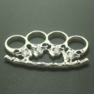 Men 316L Stainless Steel Cool Punk Gothic Two-sided Seketon Biker Big Ring For Rider