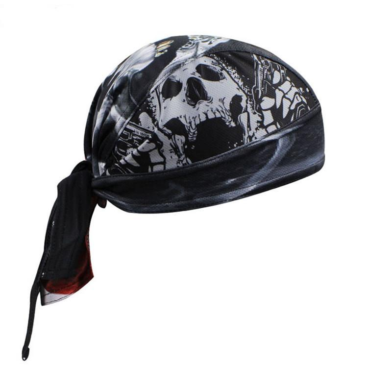 Men Bike cycling bandana pirates scarf headsweatshats Skull MTB bicycle head wear cap Sports Riding Sweat Proof Hat Headband