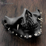 Men's Steampunk Skeletal Spike Half Masquerade Mask