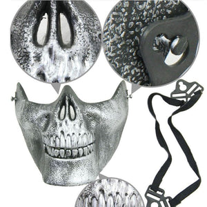 Scary Skull Skeleton Mask Halloween Costume Half Face Masks for Party Supplies