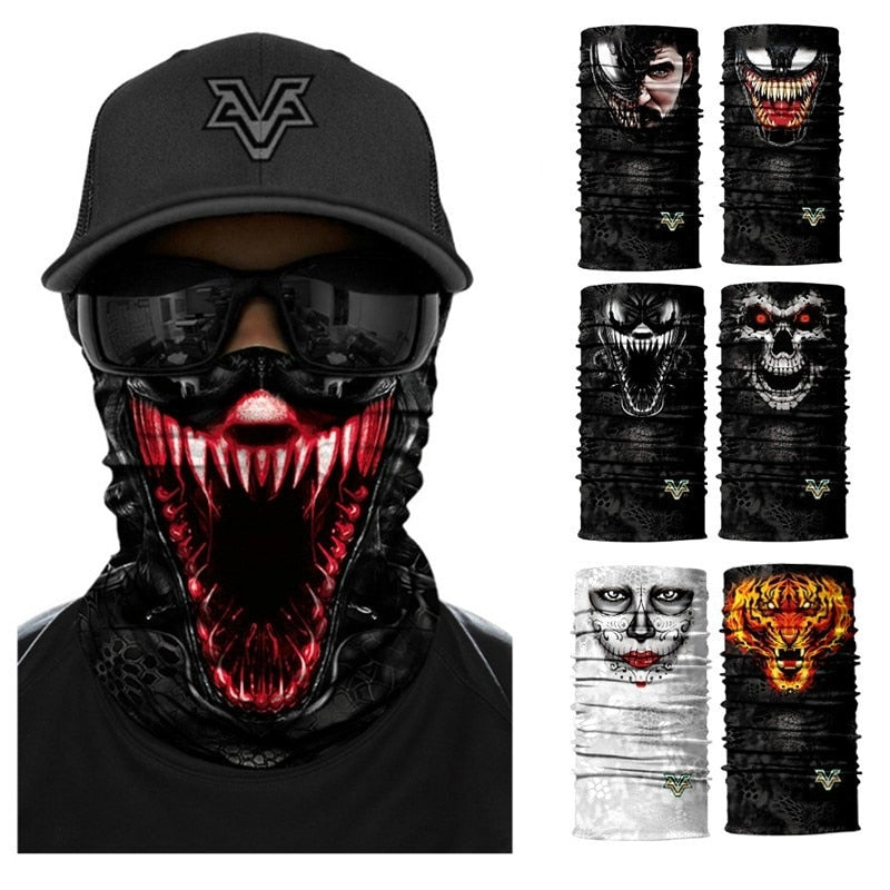 Skull Seamless Balaclava Magic Scarf Heaewear Outdoor Sports Bandanas
