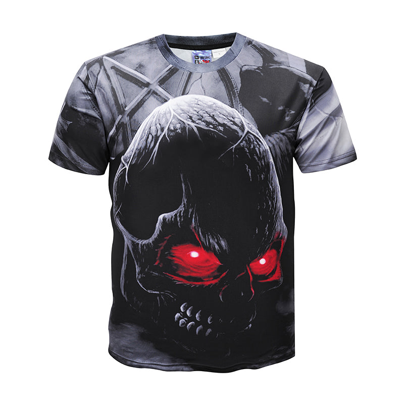Men Brand Clothing Summer Skull 3d Printing T-shirt Male Casual tshirt Fashion Mens  Short Sleeve