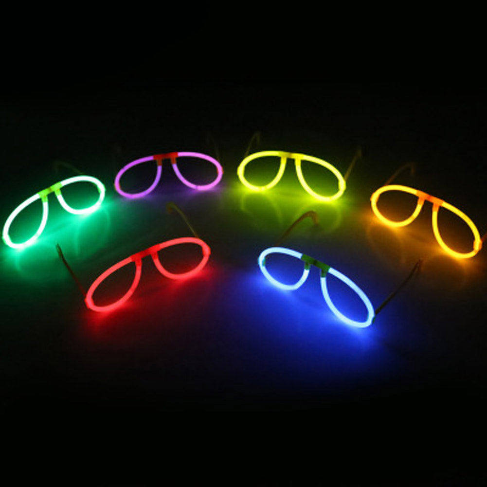 multi color glow fluorescence glasses led skull glasses light luminous sticks neon xmas party flashing novelty