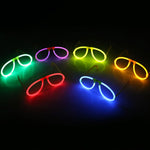 Multi Color Glow Fluorescence Glasses LED Skull Glasses Light Luminous Sticks Neon Xmas Party Flashing Novelty Toys