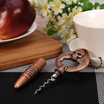 New Arrival ! Retro Multifunctional Skull Head Beer/Wine Bottle Opener Skeleton Beer/Red Wine Opener Kitchen Bar Tools Nice Gift