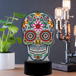 Sugar Skull Pattern Table LED Lamp Diamond Painting Light Special Shaped Cross Stitch Mosaic
