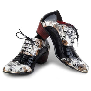 New Fashion Mid Heel Patent Leather Pointed Oxfords Shoes