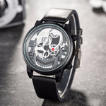 New Fashion Quartz Watches Men Skull Design Casual Wrist watch Top Luxury Brand Men Watches Punk Male Clock Relogio Masculino