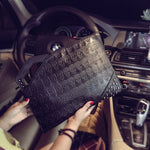 New Fashion Rivets Handbag Men's Skull Clutch Envelope Bag Casual Purse Handbag for Male Shoulder Bag