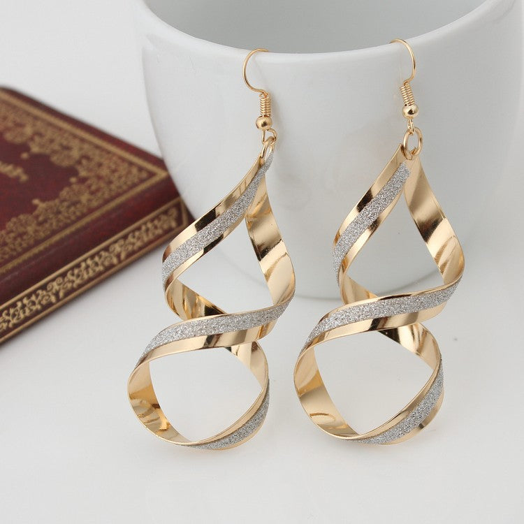 New Retro European And American Big Rock And Roll Out Exaggerated Matte Cross Earrings Earrings For Women Jewelry