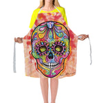 Novelty Skull Printed Apron For Men Women Colorful Aprons Sleeveless 79*67cm Restaurant Kitchen Bib Aprons
