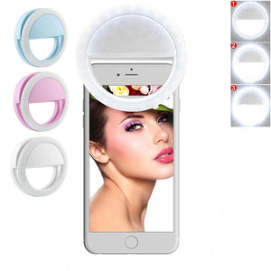 On Ring Light On Camera Selfie LED Camera Light With 36 LED Smart Phone Camera Round Shape