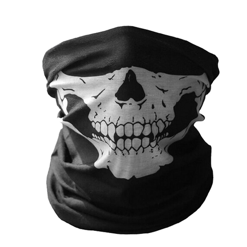 Outdoor Ghost Riding Motor Bandana Motorcycle Face Mask Motocross Skull Face Shield Biker Bicycle Cycling Motorbike Scooter