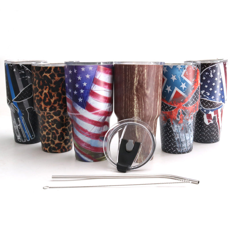Powder Coated Tumbler Stainless Steel Tumbler 30 oz Double Wall