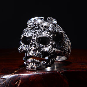 Stainless Steel Unique Punk Men Cool Ring