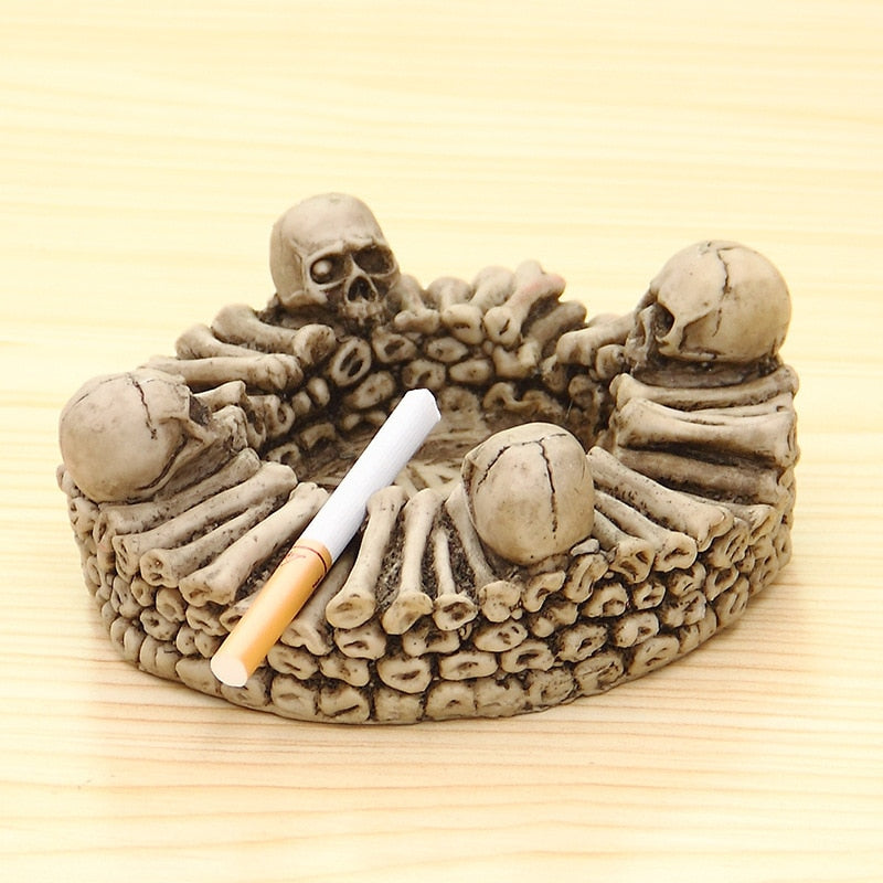 Resin Skull Ashtray Practical Smoking Accessories