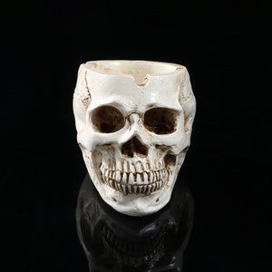Retro Halloween Decoration Skull Ashtray Tobacco Ash Holder Container Props Vintage Household Ornament Crafts Skull Ashtray