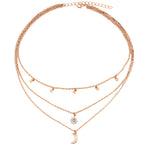 New Boho Jewelry Multi Layer Beads Choker Necklaces for Women Sexy Moon Fashion Pendant Vintage Collier choker Necklace