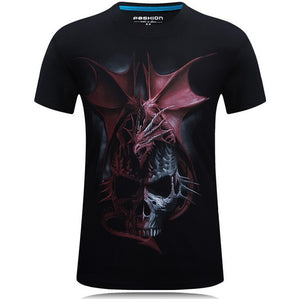 S-6XL 20 style Mens 3d Skull Cotton T Shirts Fashion Summer New Brand T Shirt Men Hip Hop Men T-Shirt Casual Fitness Swag