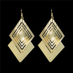 High Quality Brand Designer Fashion Big Gemotric Drop Earrings Jewelry for Women Gold Color Charm Gemotric Earrings