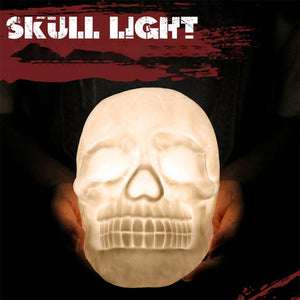 Colourful LED Skull Head Patting Lamp with Remote Control Night Light