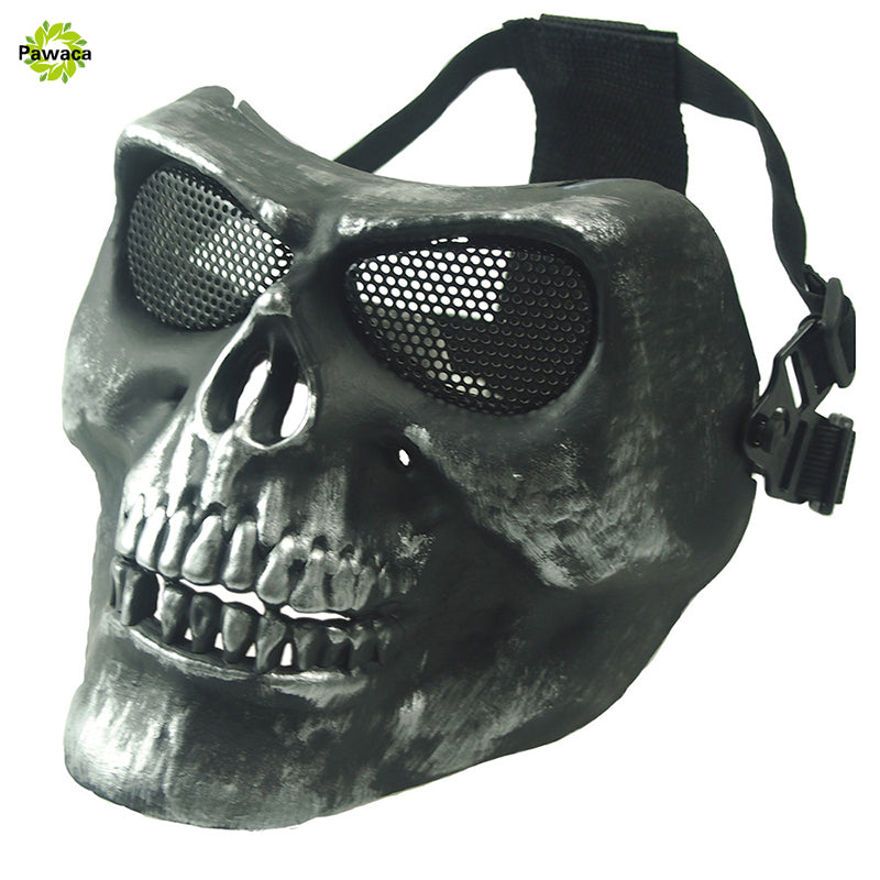Latex Skull Mask Adult Full Head Face Breathable Halloween Mask