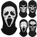 Scream Death Grim Reaper Balaclava Ghost Skull Skeleton Tactical Army Party Costume Bicycle Halloween Cosplay Full Face Masks