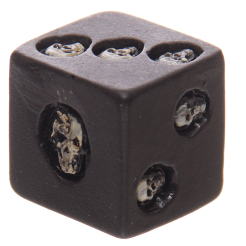 Set Of 5 Six-sided Black Skull Dice Deluxe Devil Poker Dice Gothic Gambling Dice Collectible Decoration Skeleton Gamblers Gift