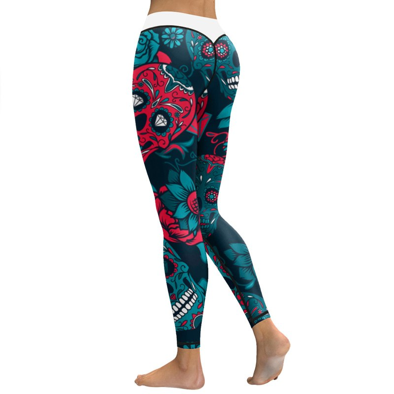 Sexy Leggings Women Skull Printed Yoga Pants