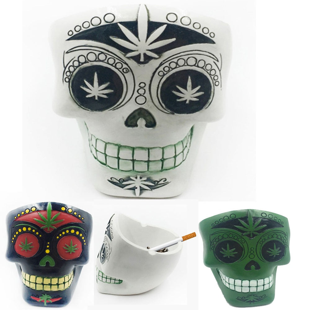 Home Decor Ashtrays Skull For Decoration Handicraft Human Resin Skull