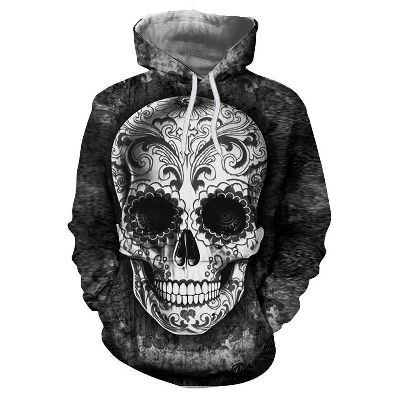 Sugar Skull Hoodies 3D Men Sweatshirts Drop Ship Printed Hoodie Brand Tracksuits Unisex Pullover 6XL Casual Fashion Male Jackets