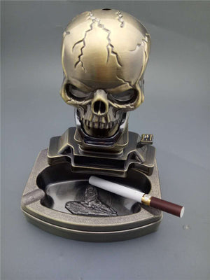 Ashtrays Creative luck Skull Cigarettes Ashtray Home Car Decoration Home Furnishing decoration
