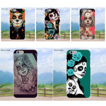 Cases For Apple iPhone 4 4S 5 5C SE 6 6S 7 8 Plus X Galaxy Grand Core II Prime Alpha Sugar Skull Day Of The Dead Girl Tattoo