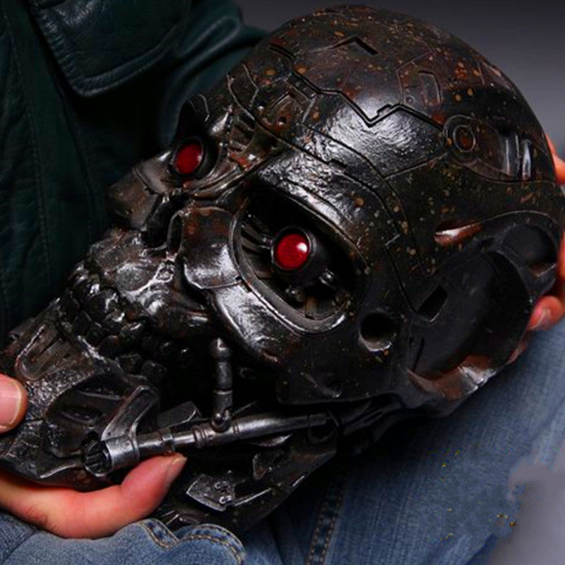 Terminator 2: Judgment Day Statue 1:1 (LIFE SIZE) T600 Skull Storage Box With LED Light Voice Control Collectible Model Toy T106